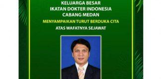 dr Edwin Parlindungan Marpaung SpOT, meninggal dunia akibat Covid-19, Minggu (30/8/2020).