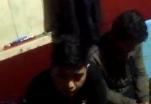 Satu di antara tiga pelaku kasus narkotika saat diamankan di Mapolres Tanjungpinang. (Suryakepri.com/ist)