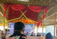 Rapat pleno jumlah pemilih untuk Pemilihan Walikota/Wakil walikota Batam 2020 di Restoran Golden Prawn, Bengkong, Batam, Selasa (8/9/2020). (Foto suryakepri.com/Romi Kurniawan)