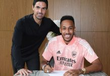 Pierre-Emerick Aubameyang ingin meninggalkan warisan di Arsenal setelah menandatangani kontrak baru berdurasi tiga tahun. (Foto dari Sky Sports)