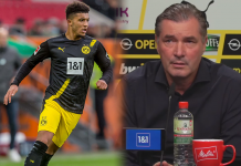 Direktur olahraga Borussia Dortmund Michael Zorc (kanan) dan Jadon Sancho. (Foto dari MEN Sport)