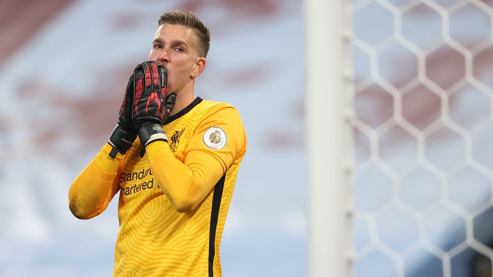 Adrian, kiper kedua Liverpool. (Foto: Sky Sports)