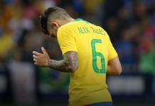 Alex Telles berseragam Tim Nasional Brasil. (foto: manutd.com)