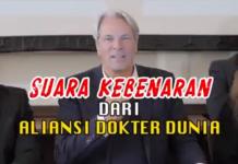 Tangkapan layar video berisi pernyataan Aliansi Dokter Dunia yang kini viral di media sosial. (Suryakepri.com)