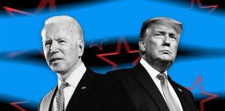 Joe Biden dan Donald Trump. (Sumber: NBC News)