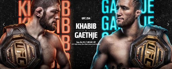 Khabib Nurmagomedov, akan adu jotos dengan Justin Gaethje dalam pertarungan UFC 254 di Yas Island, Abu Dhabi, Minggu (25/10/2020) pukul 01.00 WIB.