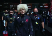 Khabib Nurmagomedov langsung mengumumkan pensiun dari dua MMA setelah mengalahkan Justin Gaethje. Dia menyatakan tidak akan bertarung tanpa didampingi ayahnya. Ayah Khabib sudah meninggal dunia akibat komplikasi Covid-19. (Suryakepri.com/Screenshot UFC).