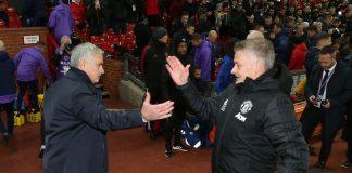 Ole Gunnar Solskjaer (kiri) bersama Jose Mourinho. (Foto: Getty via MEN SPORT)