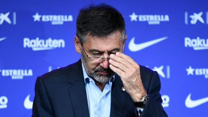 Presiden Barcelona Josep Maria Bartomeu mengundurkan diri. (Foto dari Sky Sports)-