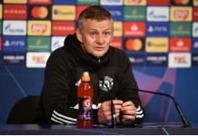 Manajer Mu Ole Gunnar Solskjaer saat kobferensi pres pra-pertandingan melawan RB Leipzig. Kedua tim akan berhadapan pada penyisihan Grup H Liga Champions 2020/21 di Old Trafford, Kamis (29/10/2020) pukul 03.00 dinihari nanti.