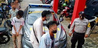 Para pelajar yang saat diamankan ke Satreskrim Polres Tanjungpinang (Suryakepri.com/Muhammad Bunga Ashab)
