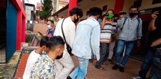 Beberapa pelaku saat diamankan di Satreskrim Polres Tanjungpinang (Suryakepri.com/Muhammad Bunga Ashab
