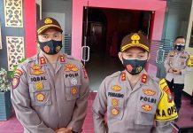 Kapolres Tanjungpinang AKBP Fernando (kanan) dan AKBP Muhammad Iqbal saat ditemui di Mapolres Tanjungpinang (Suryakepri.com/Muhammad Bunga Ashab)