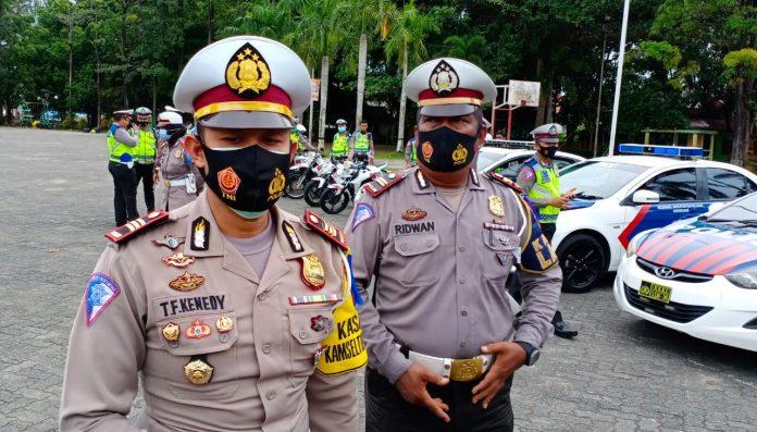 Kasatlantas Polres Tanjungpinang AKP TF Kenedy saat ditemui di lapangan Pamedan Tanjungpinang (Suryakepri.com/Muhammad Bunga Ashab)