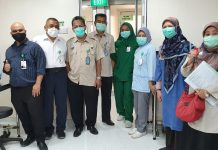 Visitasi alat PCR oleh tim Dinkes Provinsi Kepri dan BTKL bersama management RSAB Batam