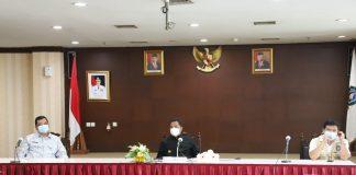 Pjs. Gubernur Kepri Bahtiar Baharudin dalam sambutannya melalui virtual dari Graha Kepri Batam