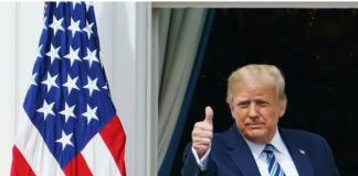 Presiden AS Donald Trump di Gedung Putih. (Foto: AFP via CNA)
