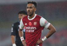 Penyerang dan kapten Arsenal Pierre-Emerick Aubameyang hanya mencatat 10 tembakan tepat sasaran dalam delapan pertandingan Liga Premier Inggris musim 2020/21. (Foto: Sky Sports)