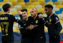 Dynamo Kyiv 0-4 Barcelona. Raksana Spanyol melangkah nyaman ke Babak 16 Besar setelah menyapu bersih empat pertandingan grup. Juventus, Chelsea, dan Sevilla juga sudah memastikan lolos ke fase gugur. (Foto dari UEFA.com)