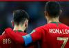 Bruno Fernandes (kiri) dan Cristiano saat bersama membela Timnas Portugal. (Foto: manutd.com)