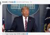 """Video konferensi pers Donald Trump di Gedung Putih, Washington, Kamis (5/11/2020), diposting oleh timnya di akun twitter @realDonaldTrump. Meski pidato ini di antaranya ada yang dicuplik dari rekaman Fox News, tetap saja ditandai Twitter sebagai """"menyesatkan"""". (tangkapan layar Twitter)"""
