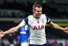 Gareth Bale merayakan gol ke gawang Brighton. Ini adalah gol pertamanya sejak kembali ke Spurs dalam status pinjaman dari Real Madrid. (Foto: Premierleague.com)