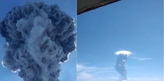 Gunung Ile Lewotolok di Lembata erupsi pada Minggu (29/11/2020) Pagi. Warga dua kecamatan, yakni kecamatan di lereng gunung tersebut, Ile Ape dan Ile Ape Timur, mengungsi.