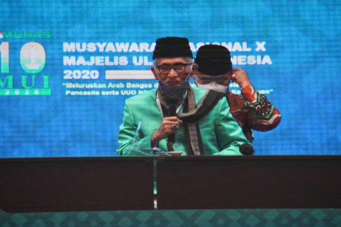 KH Miftachul Akhyar resmi menggantikan posisi KH Ma'ruf Amin sebagai Ketua Umum Majelis Ulama Indonesia (MUI) Periode 2020-2025.(Foto: mui.or.id)