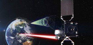 Ilustrasi muatan relai data optik LUCAS pada satelit JDRS-1. Kredit: JAXA