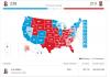 Perolehan suara sementara Joe Biden dan Donald Trump. (Grafis: AP)