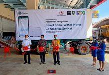 Wakil Menteri Perdagangan RI, Jerry Sambuaga, Selasa (17/11/2020) pagi menyambangi PT. Sat Nusapersada salah satu perusahaan produsen elektronik terbesar di Batam, Kepulauan Riau. (Foto: Suryakepri.com/Fernando)