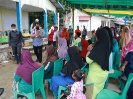 Calon Gubernur Kepri HM Soerya Respationo menginjakan kakinya di pelantar Desa Pulau Medang, Kecamatan Senayang, Kabupaten Lingga, Provinsi Kepri pada Selasa (3/11/2020) siang.