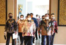 Mendagri RI, Tito Karnavian dan Ketua KPK, Firli dalam kunjungan ke Batam
