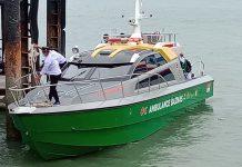 Kapal ambulans laut Baznas Karimun saat diserahkan PT Timah TBK pada 3 Juni 2020 lalu, Sabtu (14/11/2020) meledak. Foto Suryakepri.com/Rachta Yahya