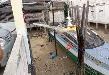Kapal ambulans laut milik Baznas Kab. Karimun sumbangan PT Timah TBK.