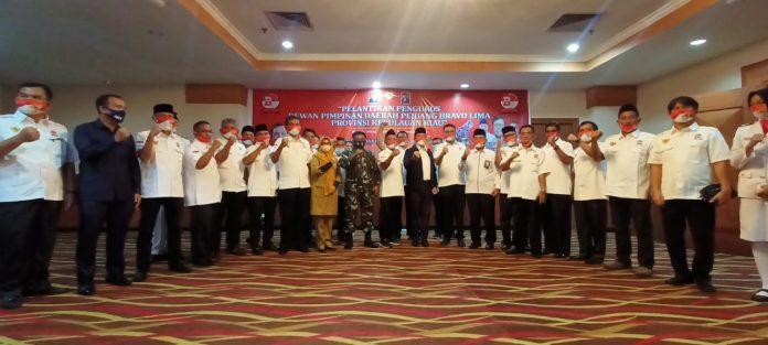 Para pengurus dpd Pejuang Bravo Lima (PBL) Provinsi Kepri masa bakti 2020-2025