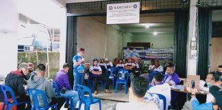 Cabup Bintan Alias Wello saat memberikan sambutan saat menerima deklarasi dukungan FSP Pariwisata SPSI Bintan (Suryakepri.com/ist)
