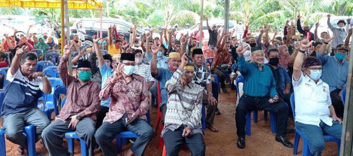 Calon Bupati Bintan Alias Wello saat menghadiri dukungan dari warga Bugis se-Kabupaten Bintan (Suryakepri.com)