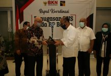 Rapat Koordinasi dan Penyampaian Pertimbangan Teknis Kepala BKN Tentang Penugasan PNS pada BP Batam, Senin (23/11/2020), di Aston Hotel & Resort Bogor.