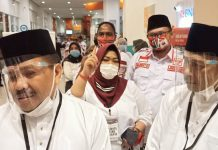 Lukita dan Basyid, saat menghadiri Debat Calon Walikota dan Wakil Walikota Batam, Rabu (25/11/2020)