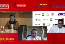 """Webinar pelatihan UKM Sabang-Merauke bertemakan """"Tumbuh Bersama""""."""