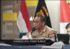 Kabid Humas Polda Metro Jaya, Kombes Pol. Yusri Yunus saat memaparkan perkembangan video syur mirip Gisella Anastasia atau Gisel. (tangkapan layar KH Infotainment)