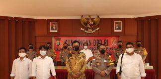 Foto Richard Pasaribu saat bertemu Kapolresta Barelang di Mako Polresta Barelang usai silaturahmi dan koordinasi,