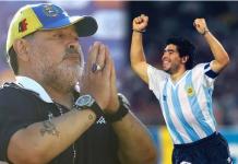 Legenda sepakbola dan bintang Argentina Diego Armando Maradona meninggal dunia pada usia 60 tahun. (Foto: Express)