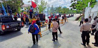 Jelang Visi-Misi Kandidat Paslon Pilkada, Disambut Unjuk Rasa Buruh