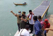 Gubernur Kepri meluncurkan kapal nelayan bertenaga Surya (matahari) berkapasitas 3 GT di Pelabuhan Mentigi, Kecamatan Bintan Utara, Kabupaten Bintan.