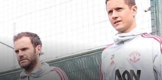 Juan Mata (kiri) dan Ander Herrera saat keduanya masih sama-sama berseragam Manchester United. (Foto: manutd.com)