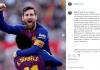 Ucapan selamat Pele kepada Lionel Messi yang berhasil memecahkan rekor glonya untuk satu klub. (Tangkapan layar Instagram Pele)