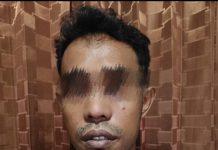 Pelaku penikaman sopir taksi yang telah ditangkap oleh Jatanras Polres Tanjungpinang di Kampung Kuala Lumpur.