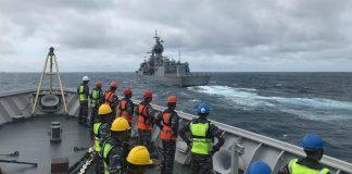 TNI AL dan AL Australia saat latihan bersama di perairan Kepulauan Anambas, Kepri (Suryakepri.com)